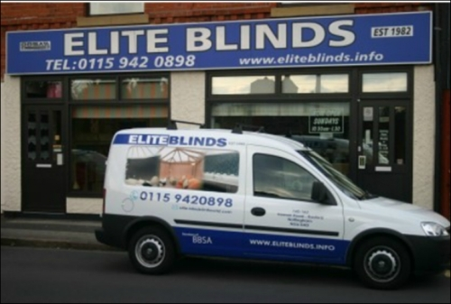 Elite Blinds Nottingham Showroom