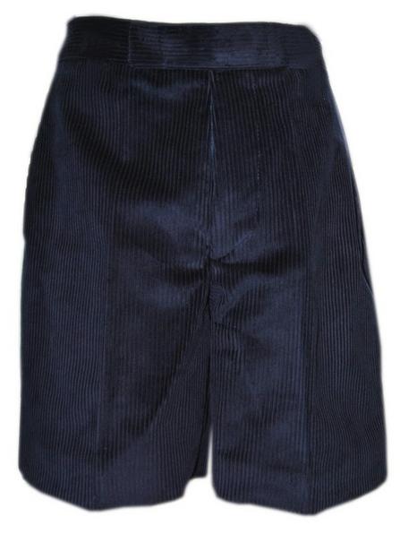 Boys Cord Shorts Navy
