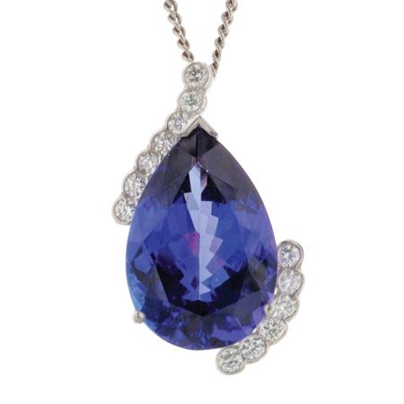 Bespoke Tanzanite and Diamond Pendant