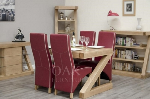 Z Shape Solid Oak Dining and Living Room Furniture