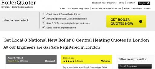 Boiler installations London