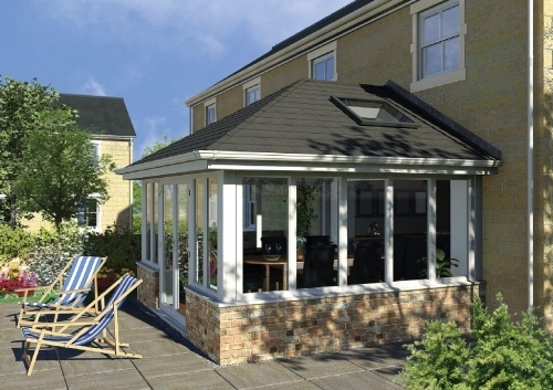 conservatory with leka roof