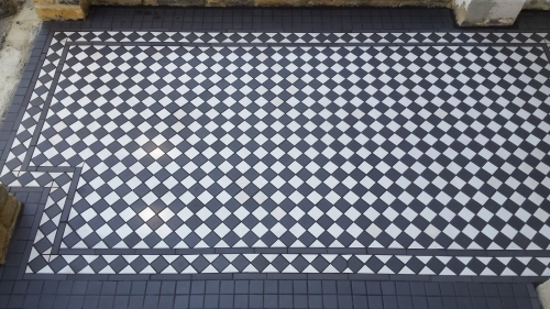 Victorian tiled path East London